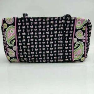 NWT Vera Bradley large duffel Bag Pink elephants